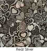 ArtGlassSupplies Etched Dichroic Crazy Hearts Pattern on Thin Black Glass - COE96