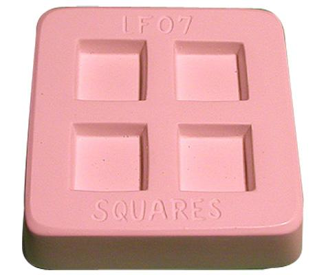 "1"" Jewelry Squares Kiln Casting Mold"