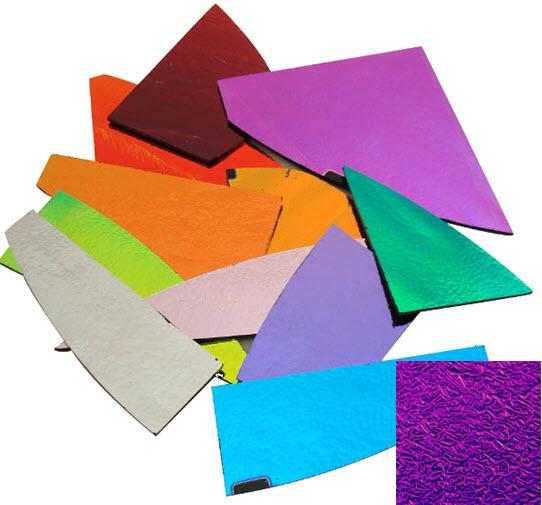 CBS Crinklized Dichroic Scrap by Weight - Solid Thin Glass - COE96
