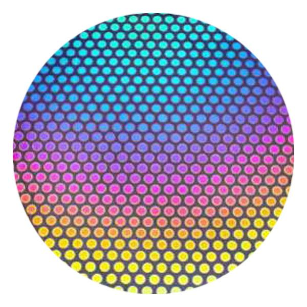 CBS Dichroic Coating Dot 3 Pattern on Thin Black  Glass - COE96