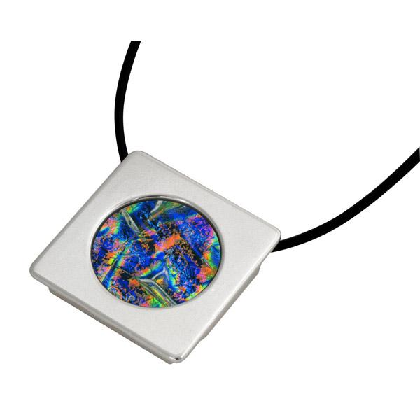 Circle Gallery Frame Pendant - Silver Plated