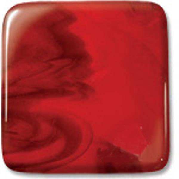 Uroboros Glass Red Opalescent with Dark Red Transparent, Double-rolled, 3mm - COE96