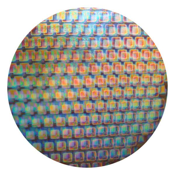 CBS Dichroic Coating Boxes 2 Pattern on Thin Clear Glass - COE96
