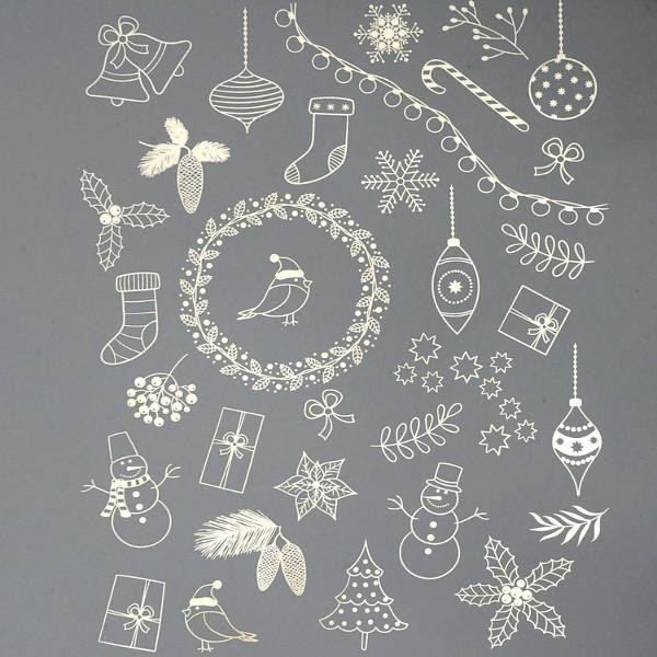 Christmas Trimmings Decal Sheet