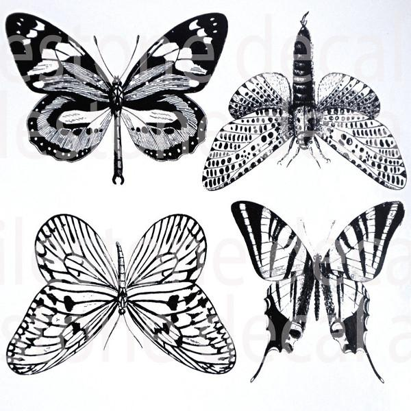 Large Butterflies Decal Sheet